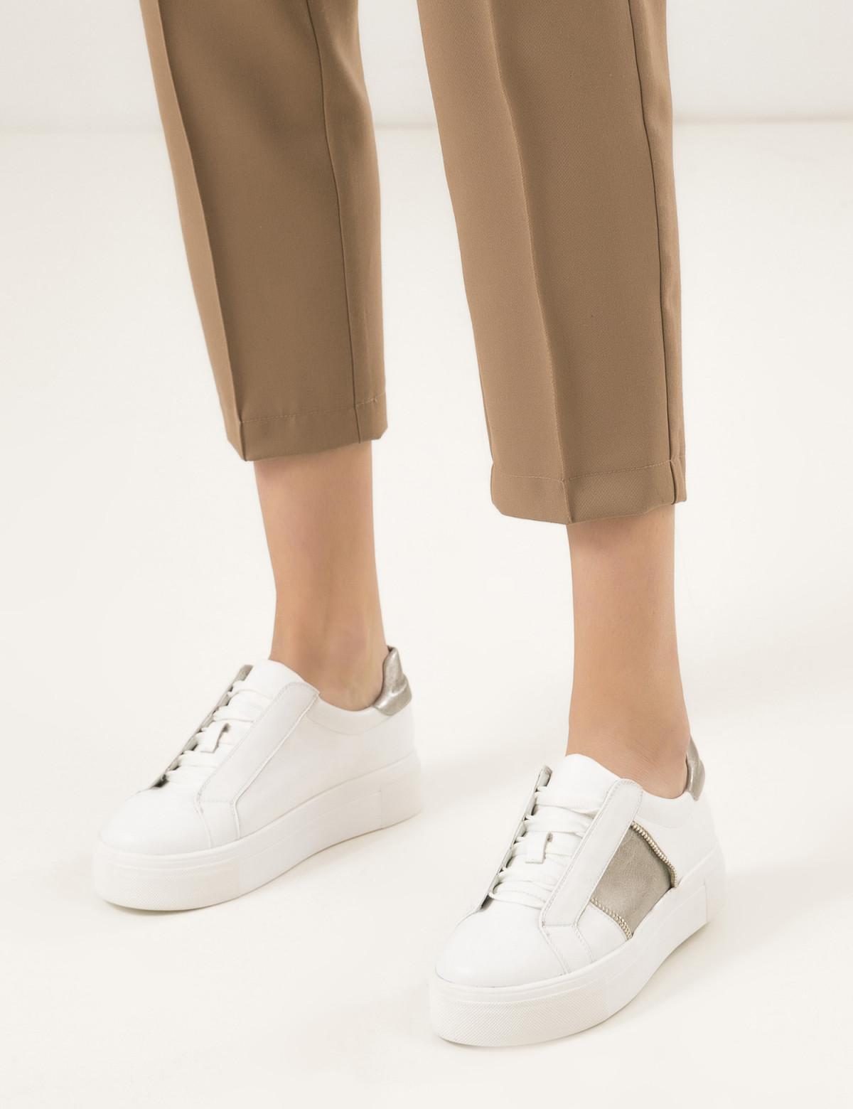 Кроссовки белые, натуральная кожа5