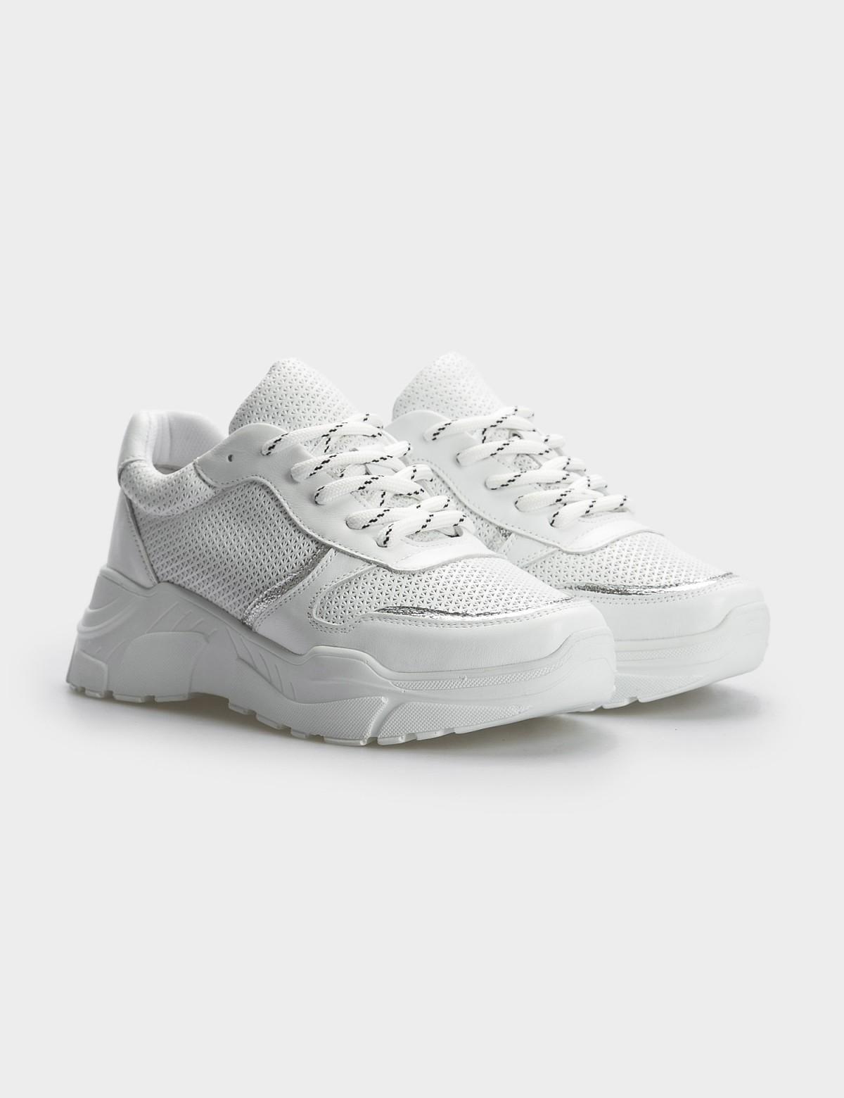 Кроссовки белые, натуральная кожа. Текстиль1
