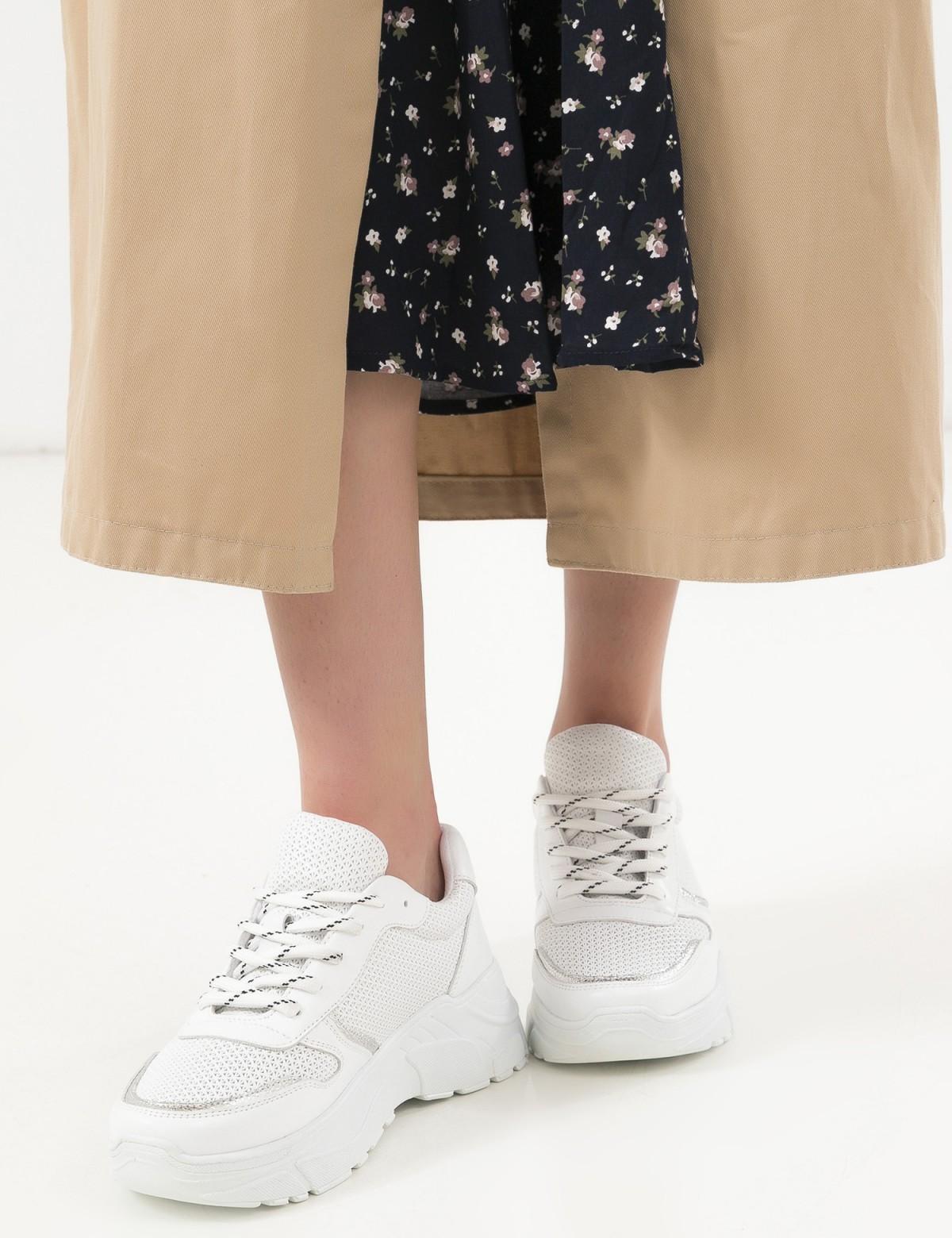 Кроссовки белые, натуральная кожа. Текстиль4