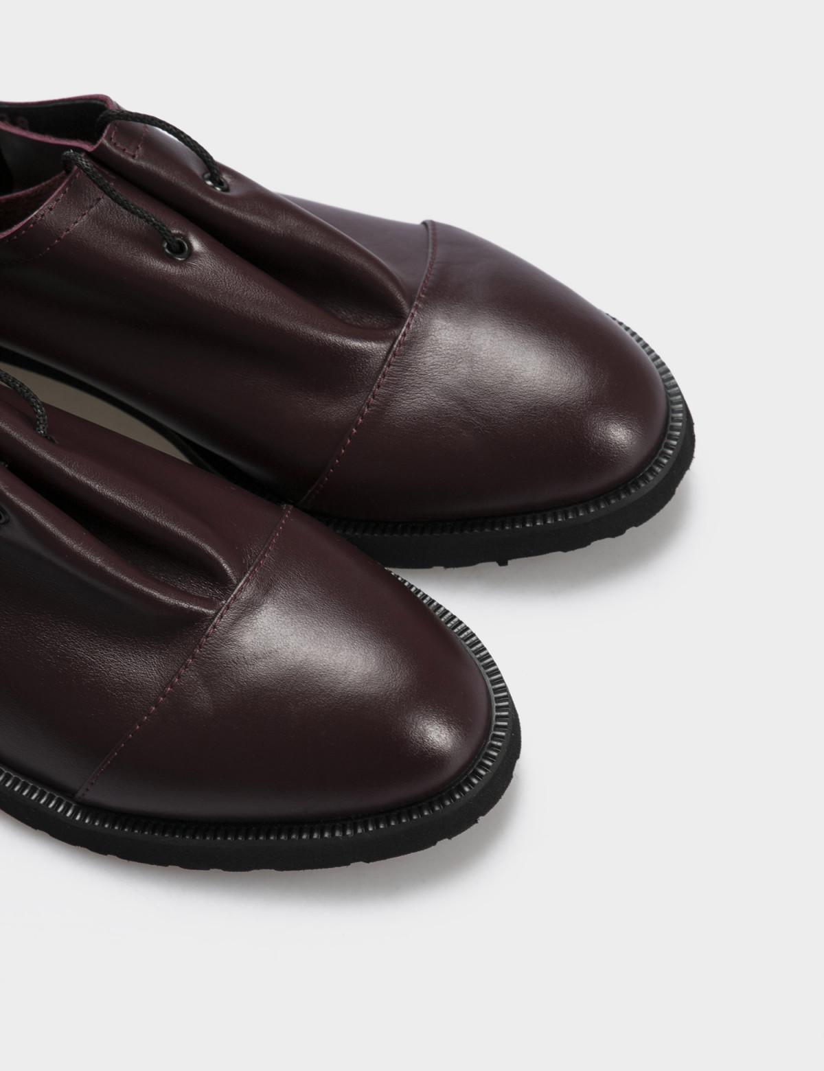 Туфли бордовые, натуральная кожа3