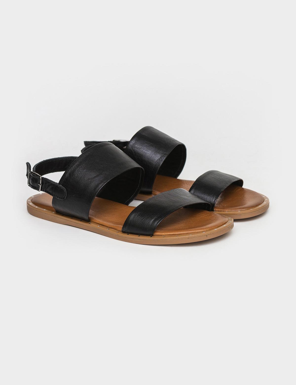 Сандали черные, натуральная кожа1