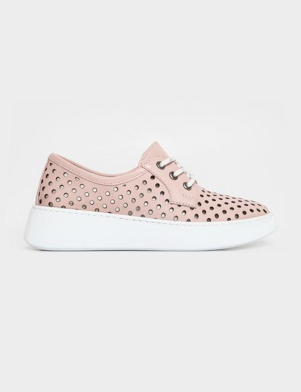 Кросівки рожеві. Натуральна шкіра