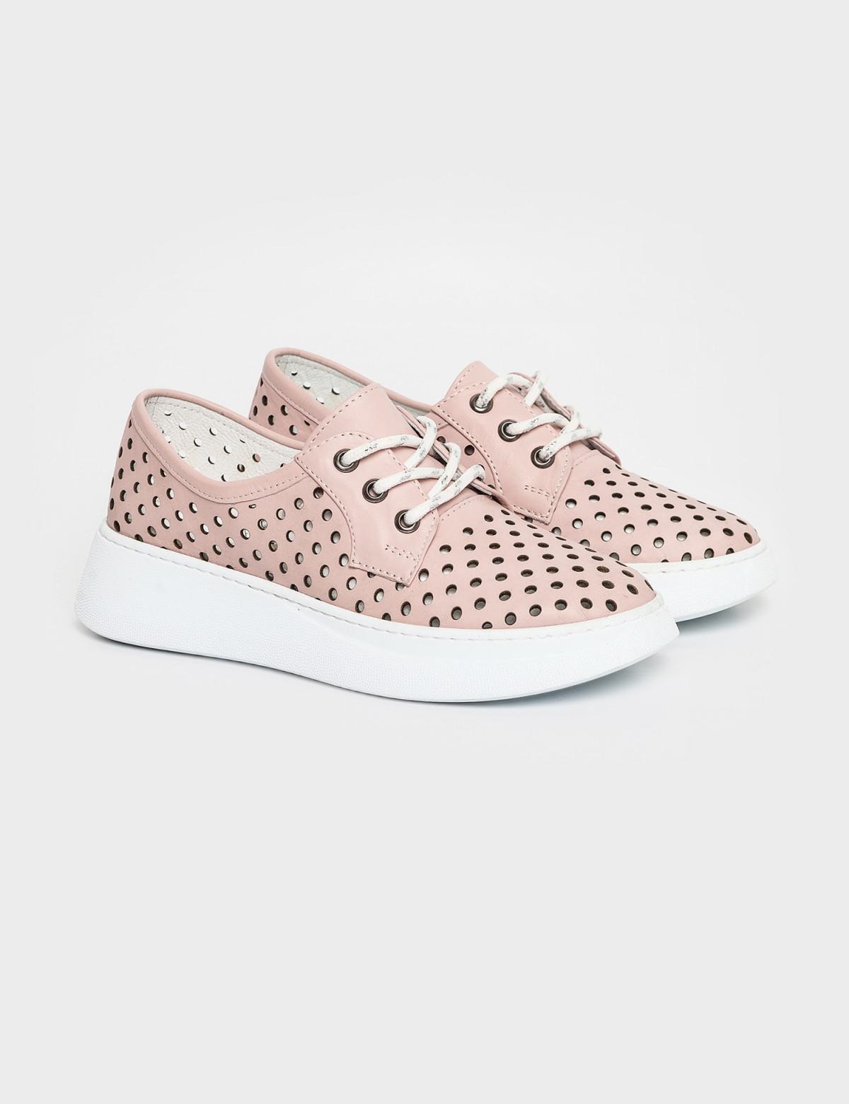 Кросівки рожеві. Натуральна шкіра1