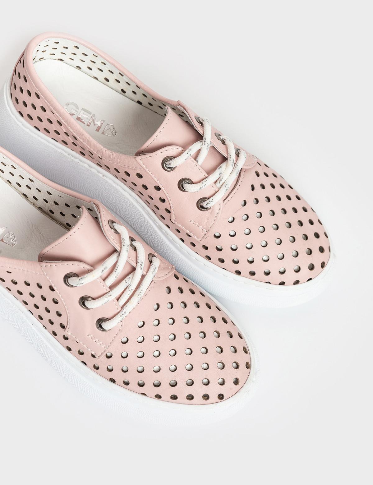Кросівки рожеві. Натуральна шкіра3