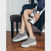 Кросівки сірі. Натуральна замша5