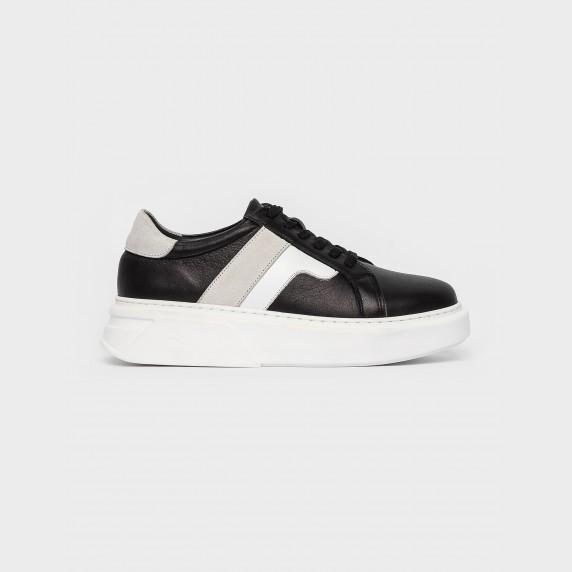 Кросівки чорні/білі. Натуральна шкіра