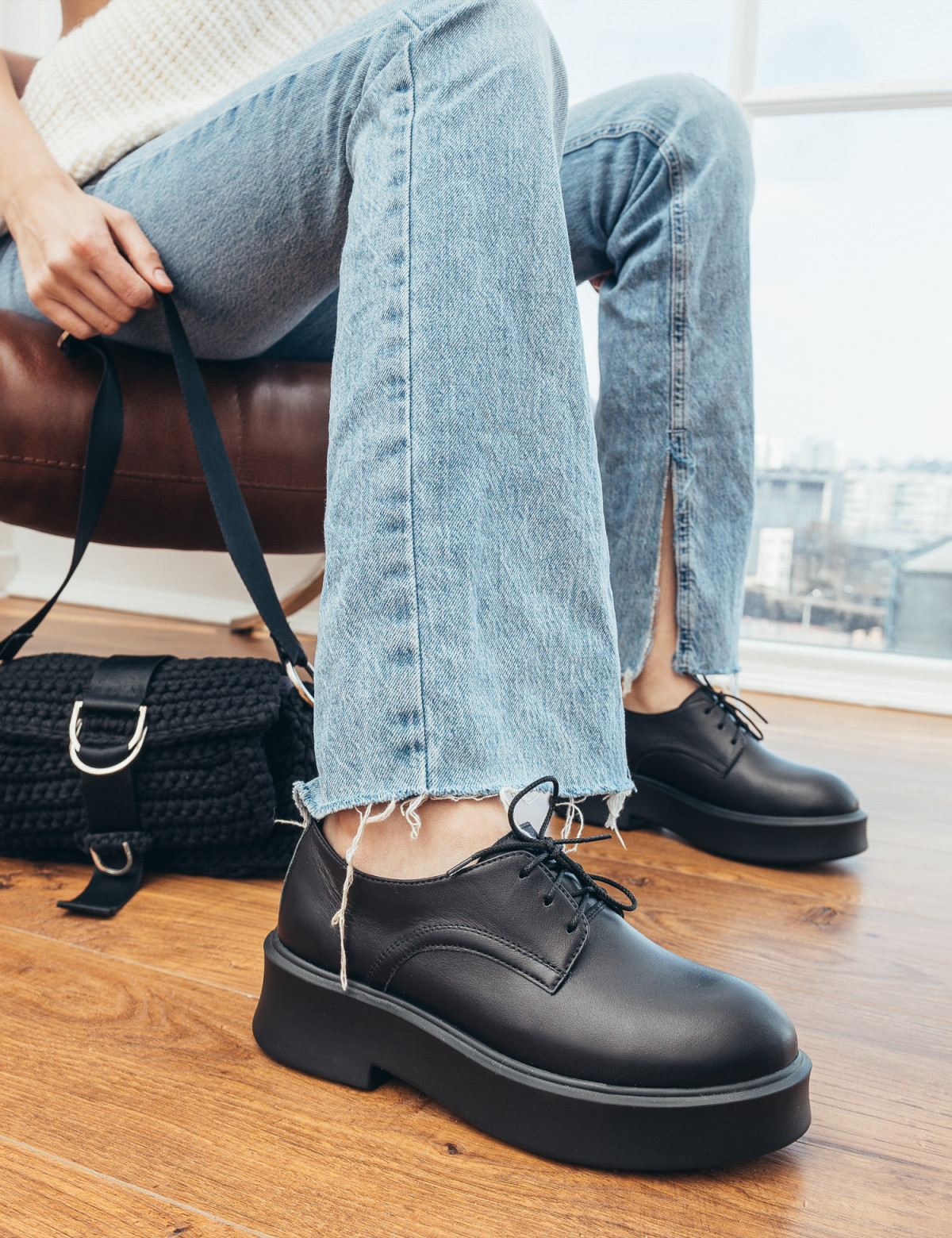 Туфлі чорні. Натуральна шкіра5