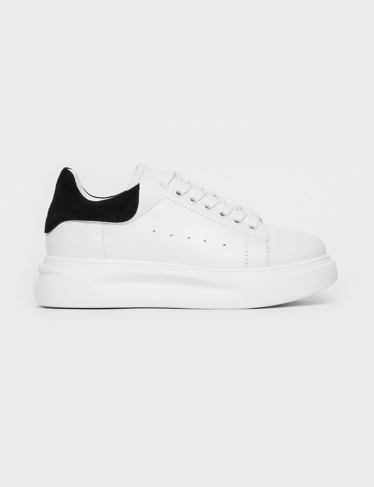Кросівки білі/чорні. Натуральна шкіра