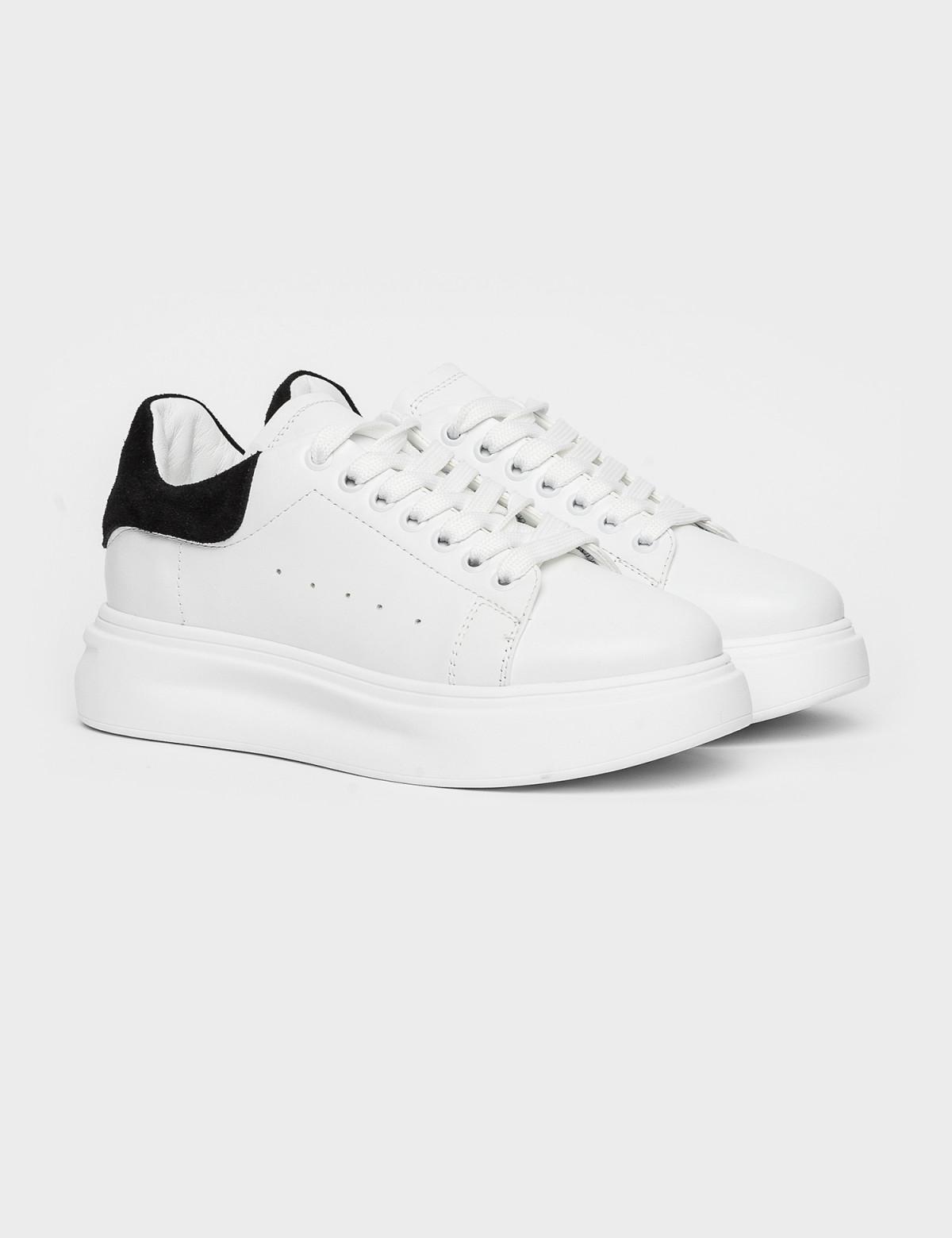 Кросівки білі/чорні. Натуральна шкіра1