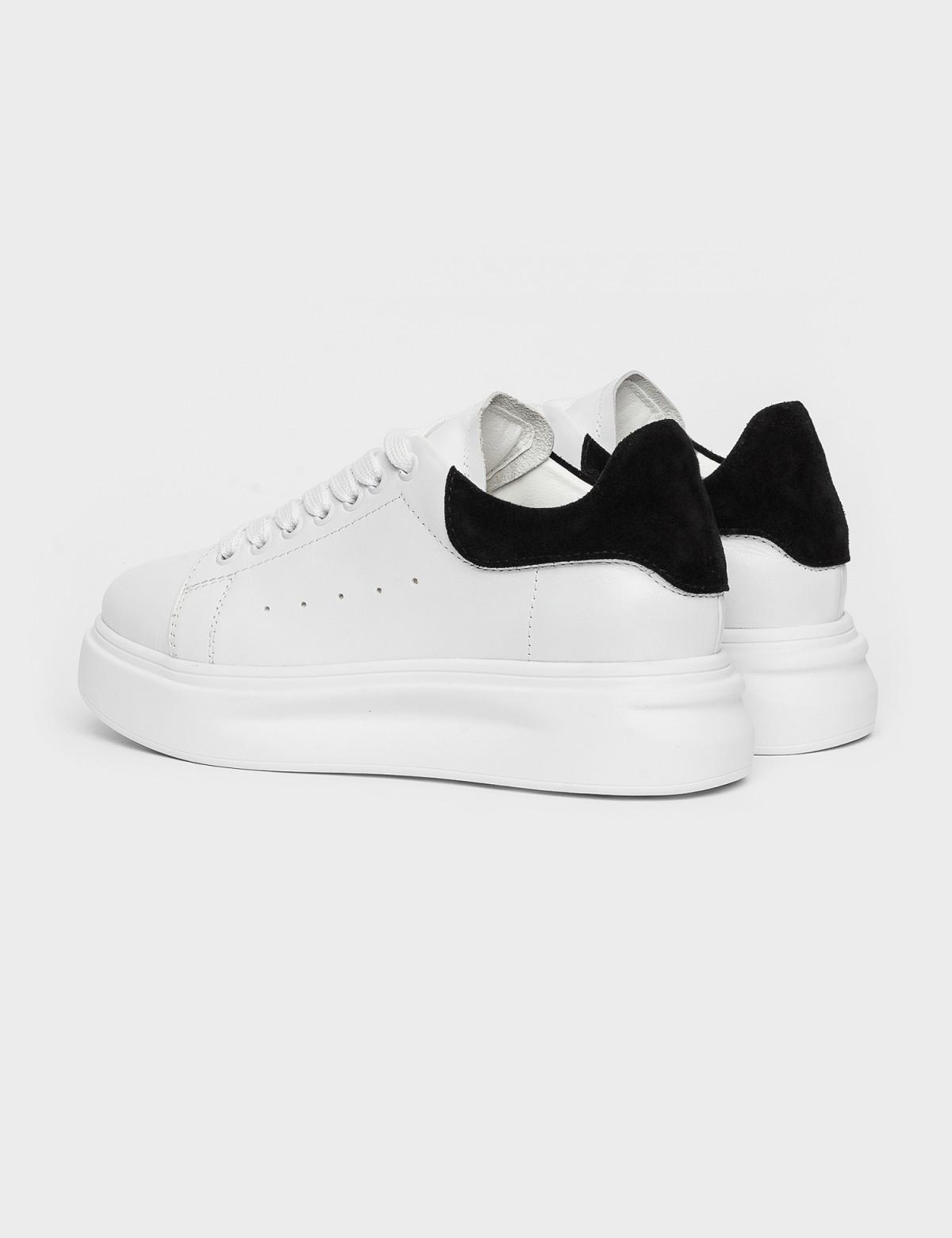 Кросівки білі/чорні. Натуральна шкіра2