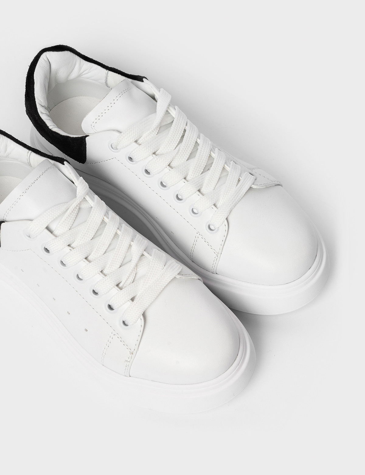 Кросівки білі/чорні. Натуральна шкіра3