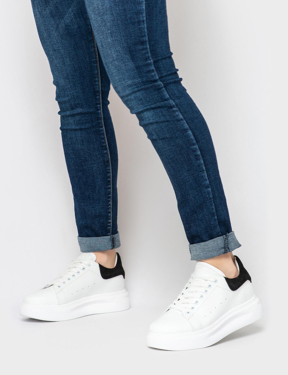 Кросівки білі/чорні. Натуральна шкіра4