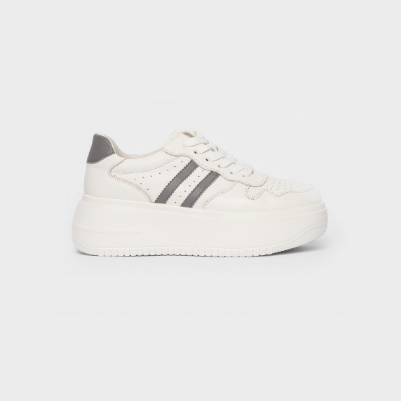 Кросівки білі/сірі. Натуральна шкіра