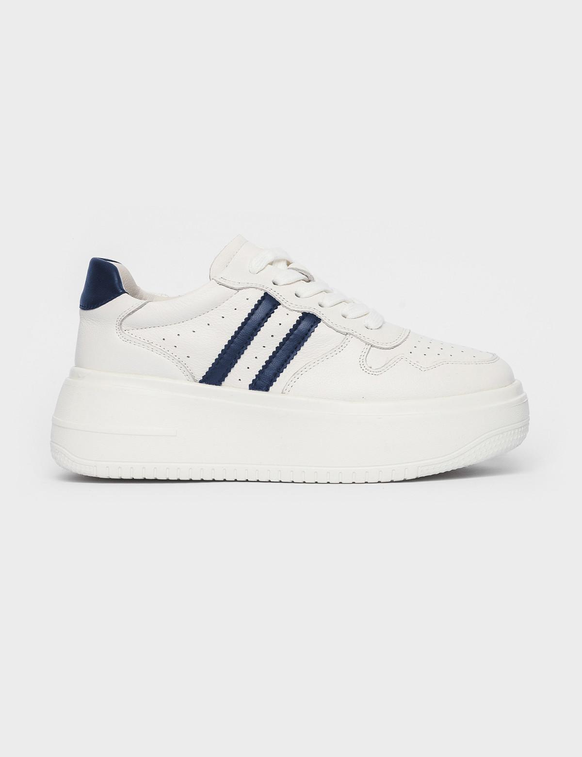 Кросівки білі/сині. Натуральна шкіра