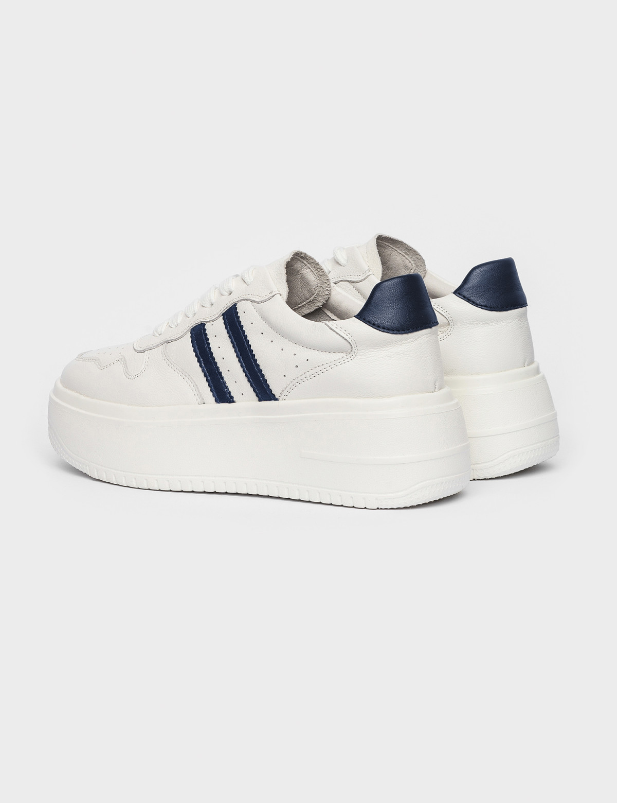 Кросівки білі/сині. Натуральна шкіра2