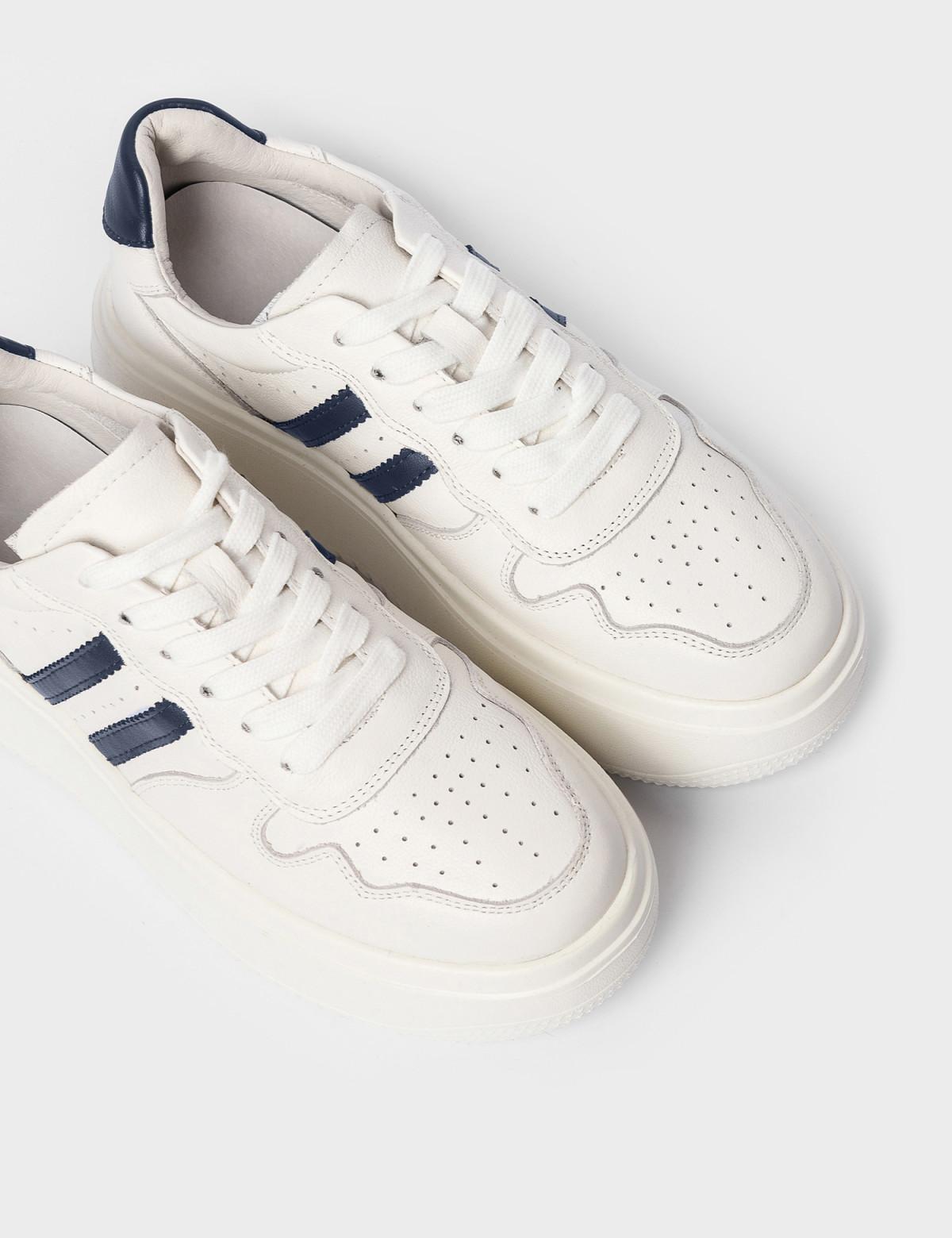 Кросівки білі/сині. Натуральна шкіра3