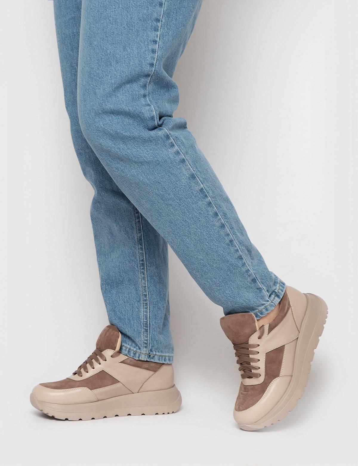 Кросівки бежеві. Натуральна шкіра/замша4
