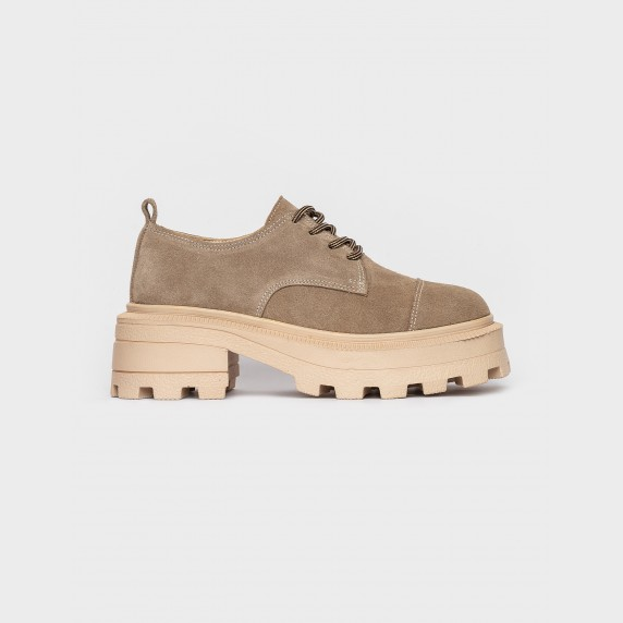 Туфлі бежеві. Натуральна замша