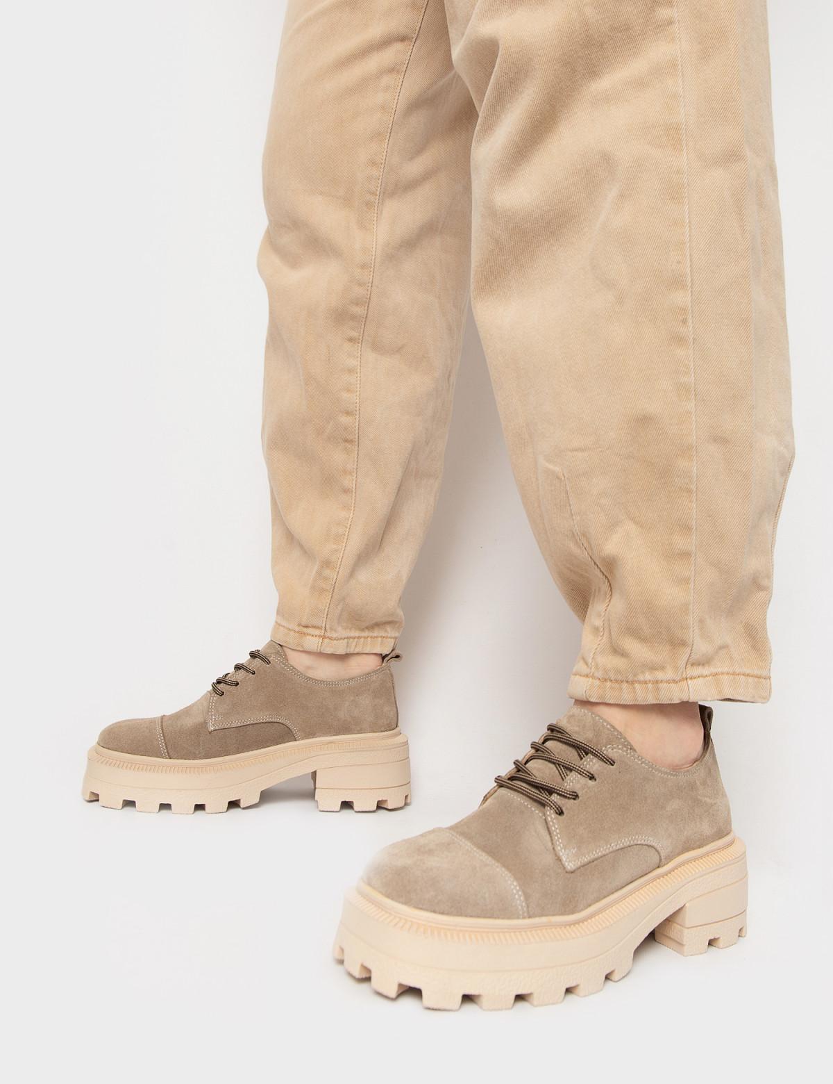 Туфлі бежеві. Натуральна замша4