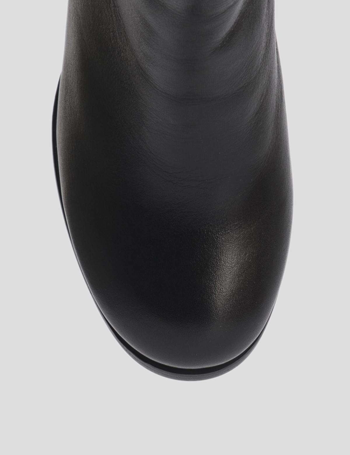 Ботильоны черные, натуральная кожа. Байка3