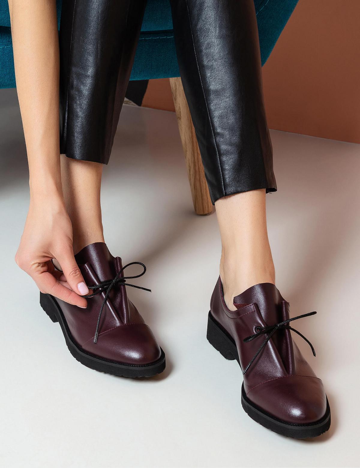 Туфли бордовые, натуральная кожа5