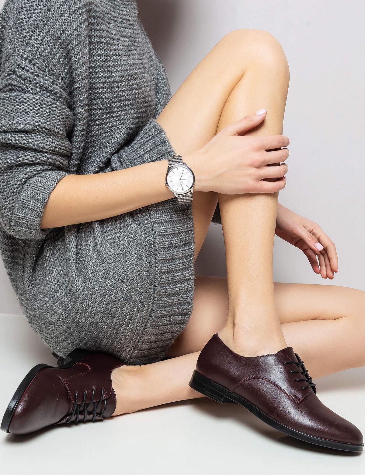 Туфлі бордові, натуральна шкіра 6