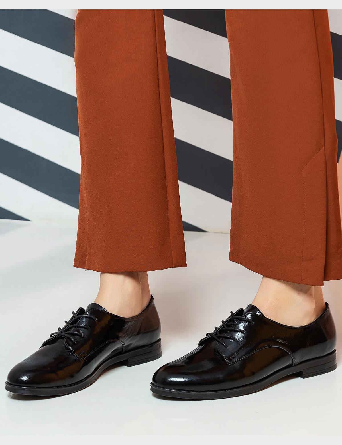 Туфли черные лакированные, натуральная кожа6