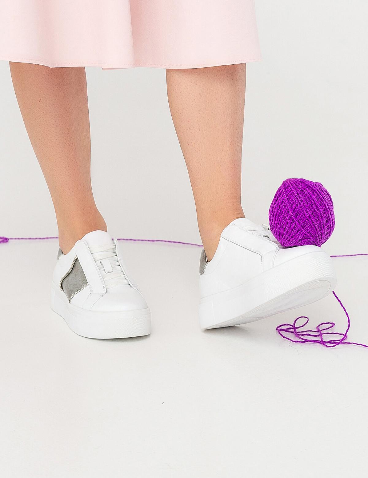 Кросівки білі, натуральна шкіра6