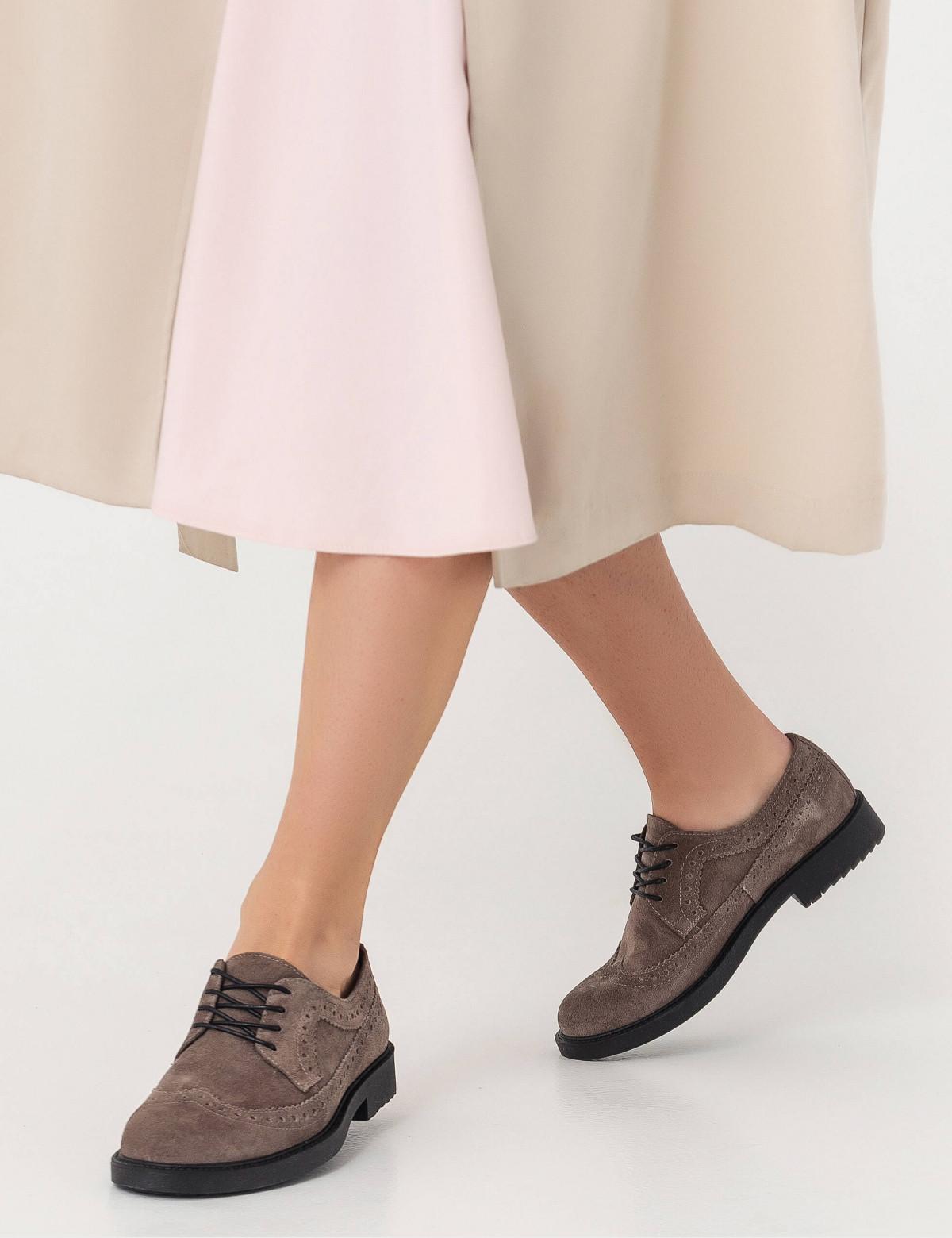 Туфлі темно-бежеві, натуральна замша6