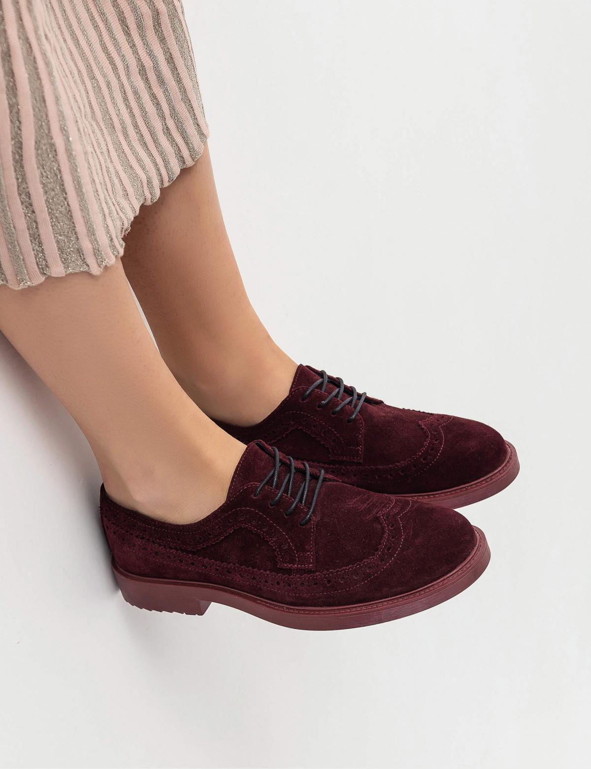 Туфли бордовые, натуральная замша6