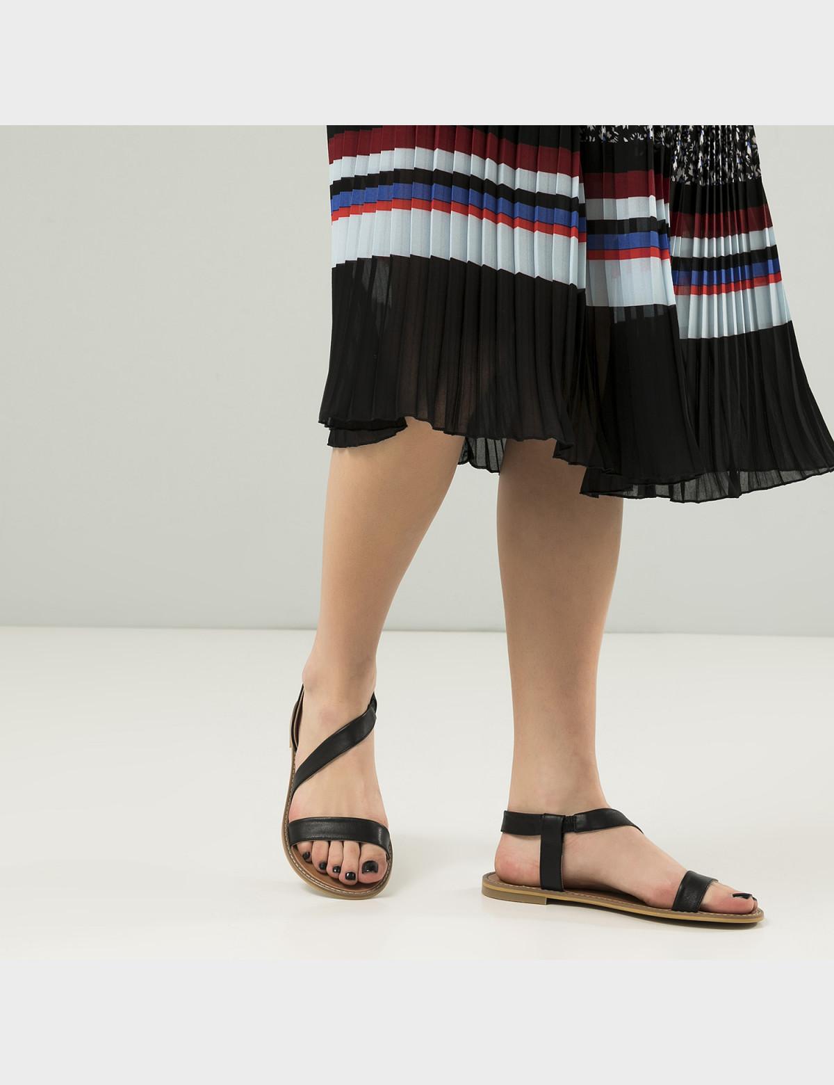 Сандали черные, натуральная кожа5