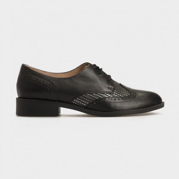 Туфли черные/никель, натуральная кожа