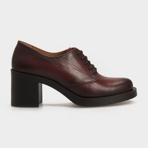 Туфли бордовые, натуральная кожа