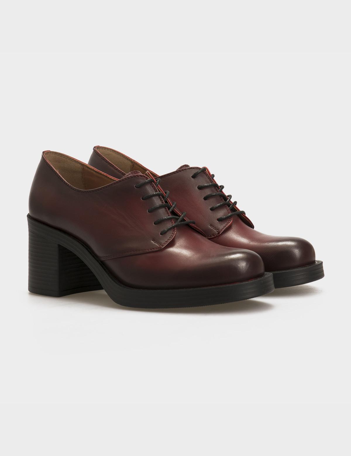 Туфли бордовые, натуральная кожа 1
