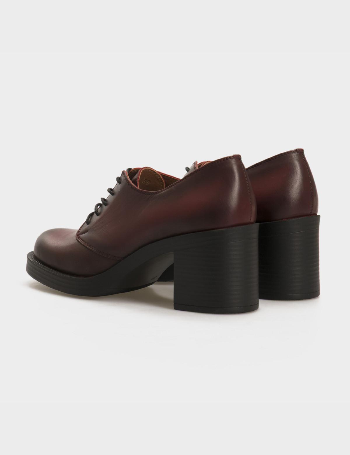 Туфли бордовые, натуральная кожа 2