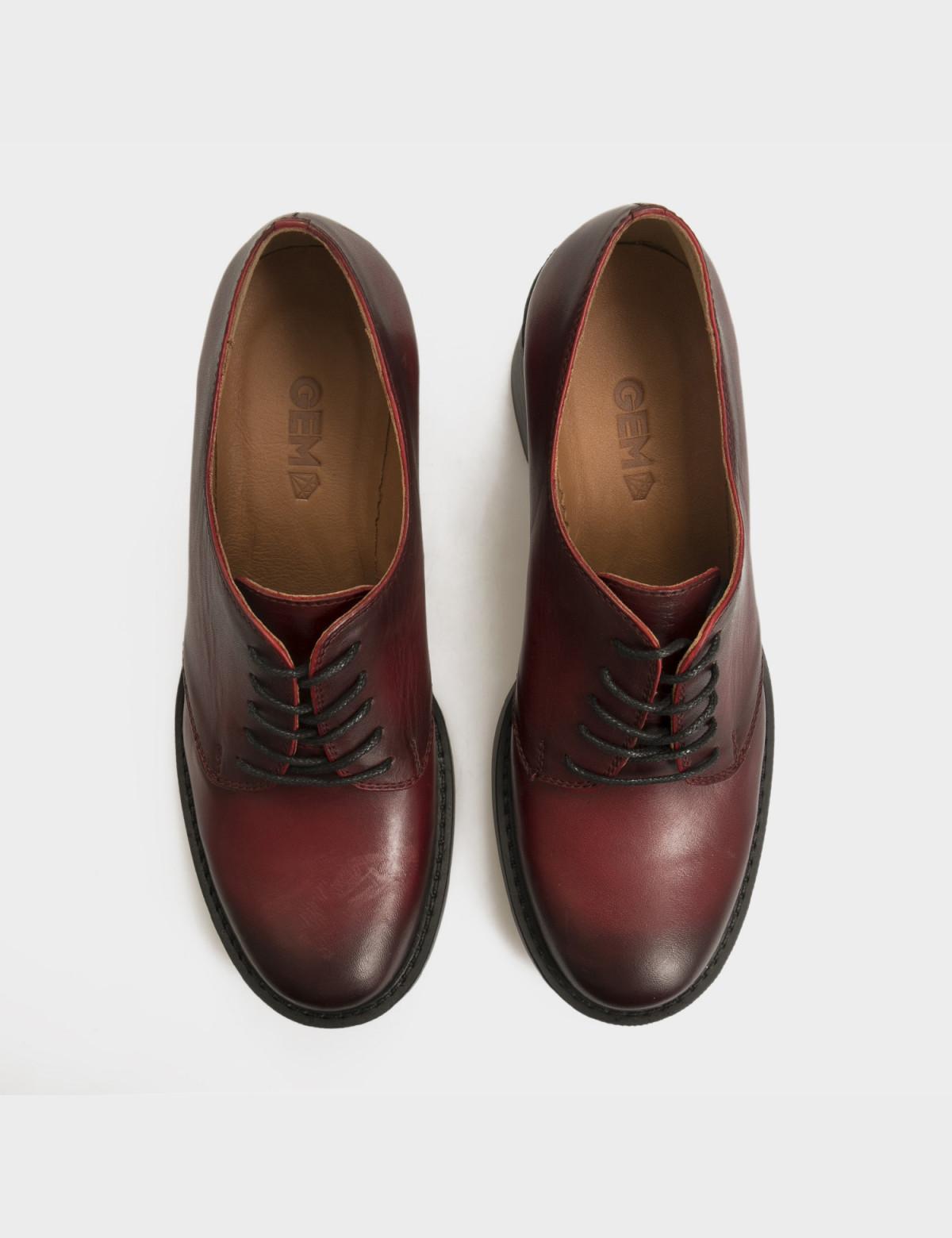 Туфли бордовые, натуральная кожа 3