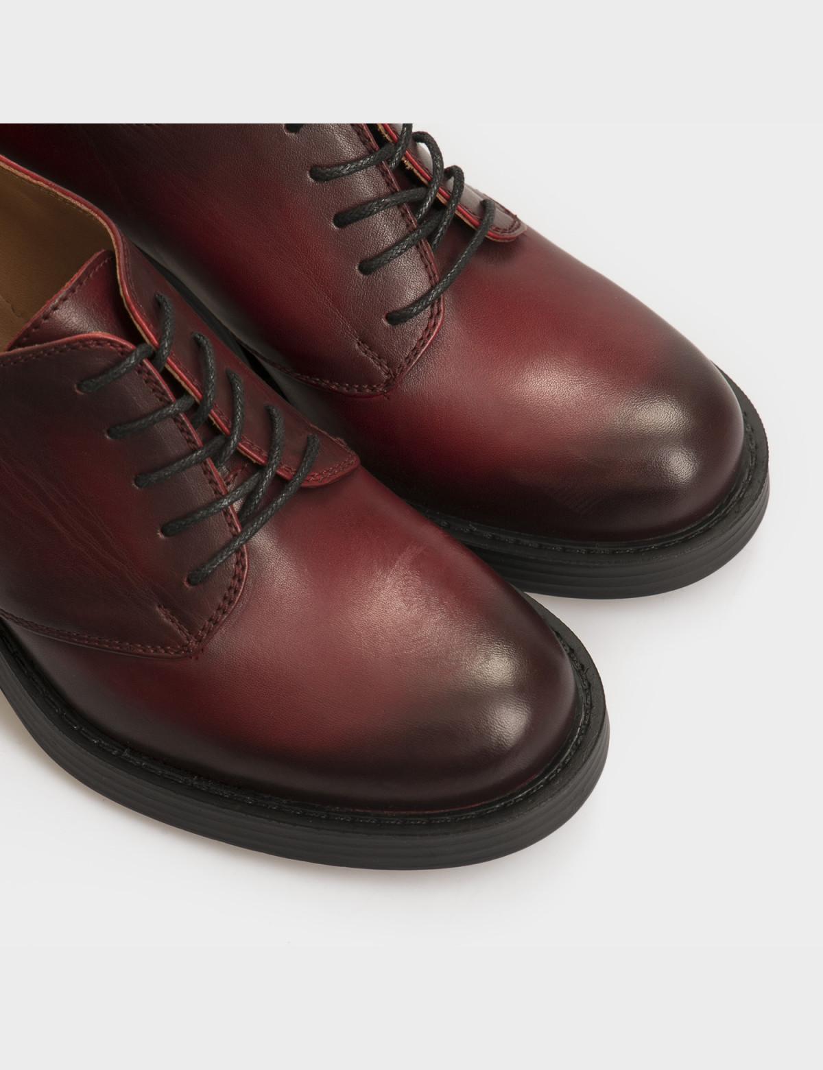 Туфли бордовые, натуральная кожа 4