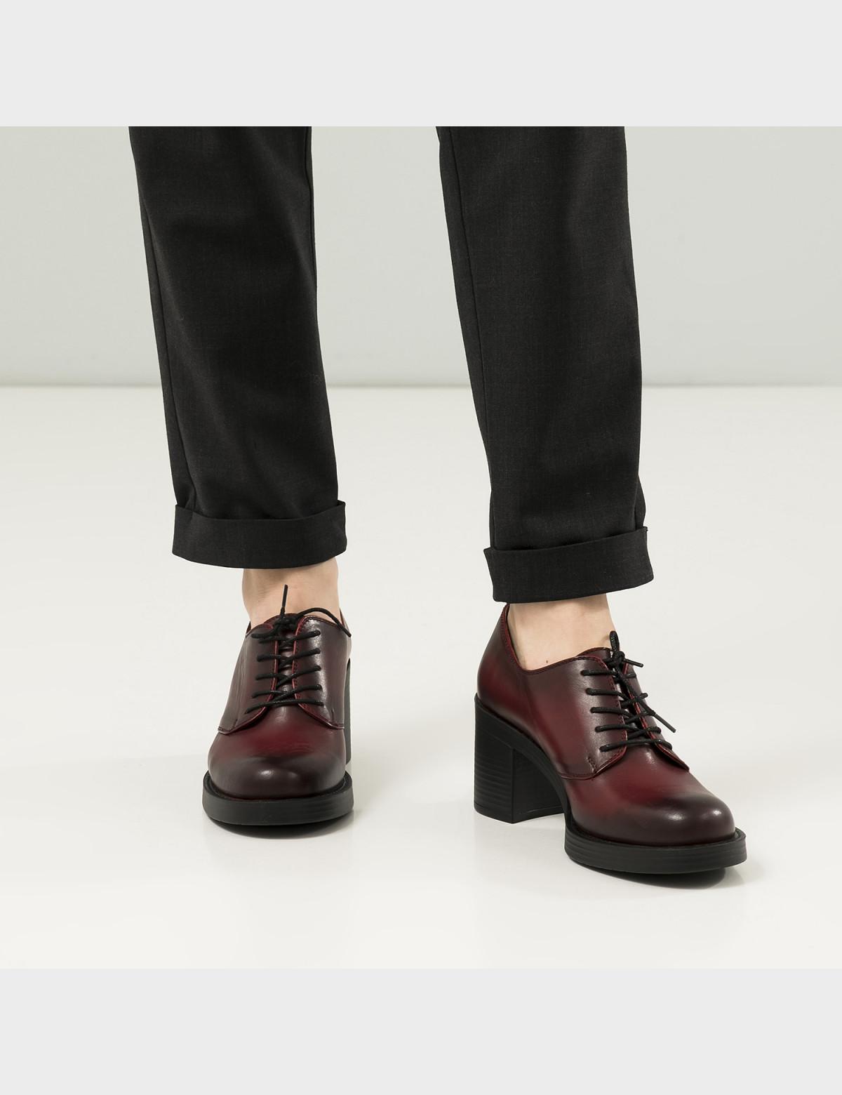 Туфли бордовые, натуральная кожа 5