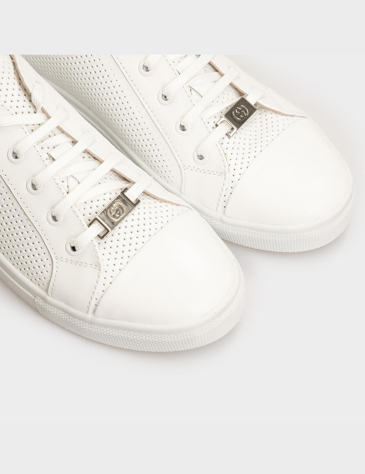 Кеды белые, натуральная кожа4