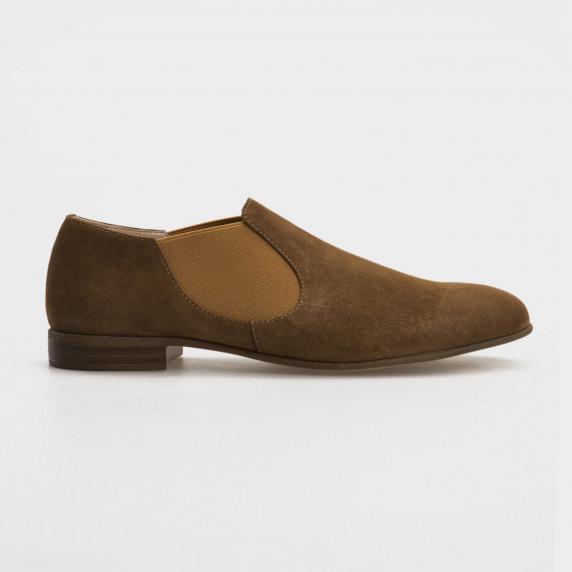 Туфли бежевые, натуральная замша