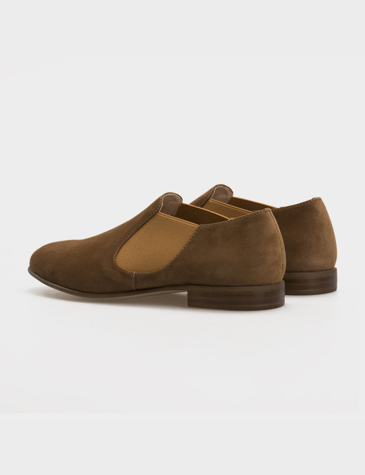 Туфли бежевые, натуральная замша2