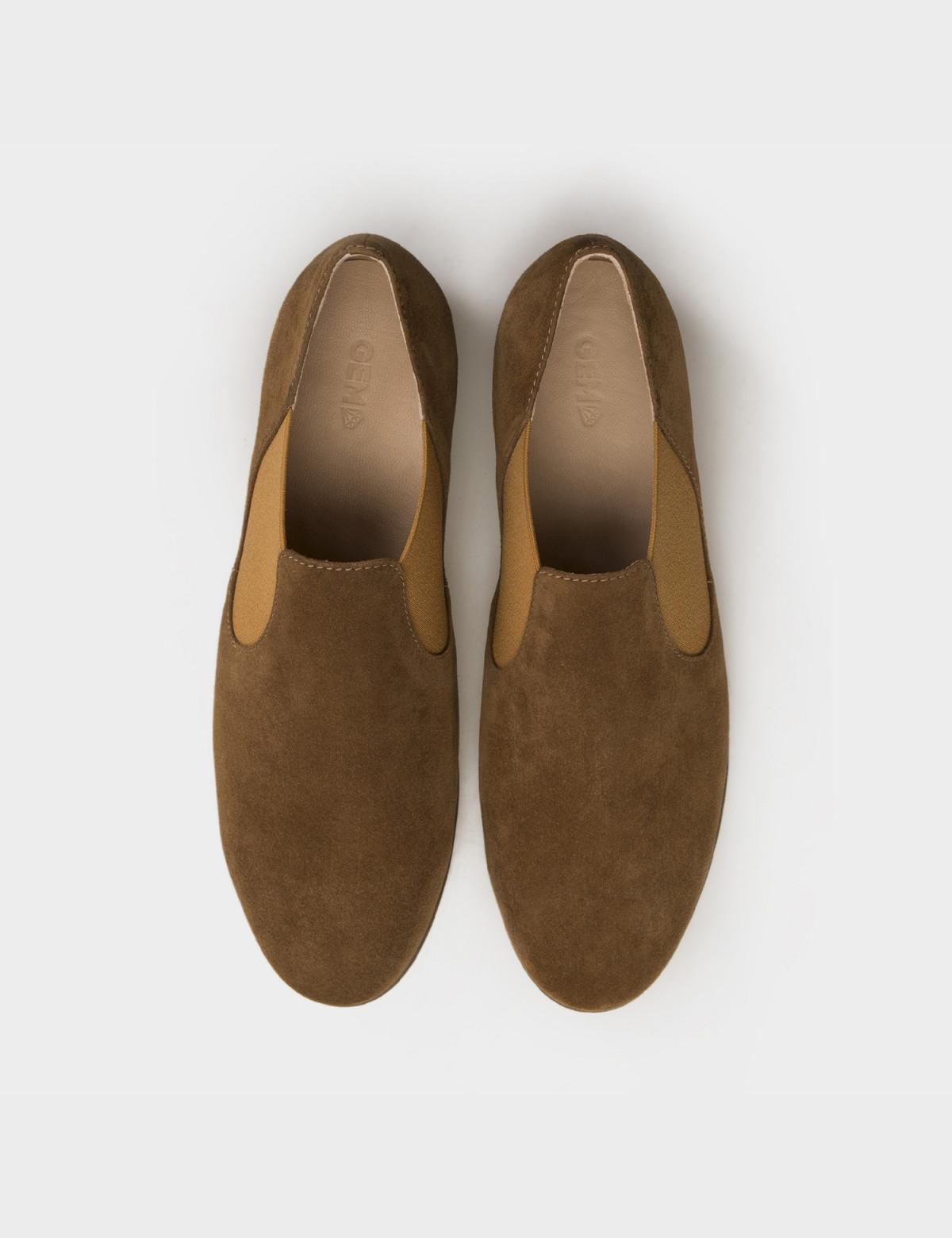Туфли бежевые, натуральная замша3
