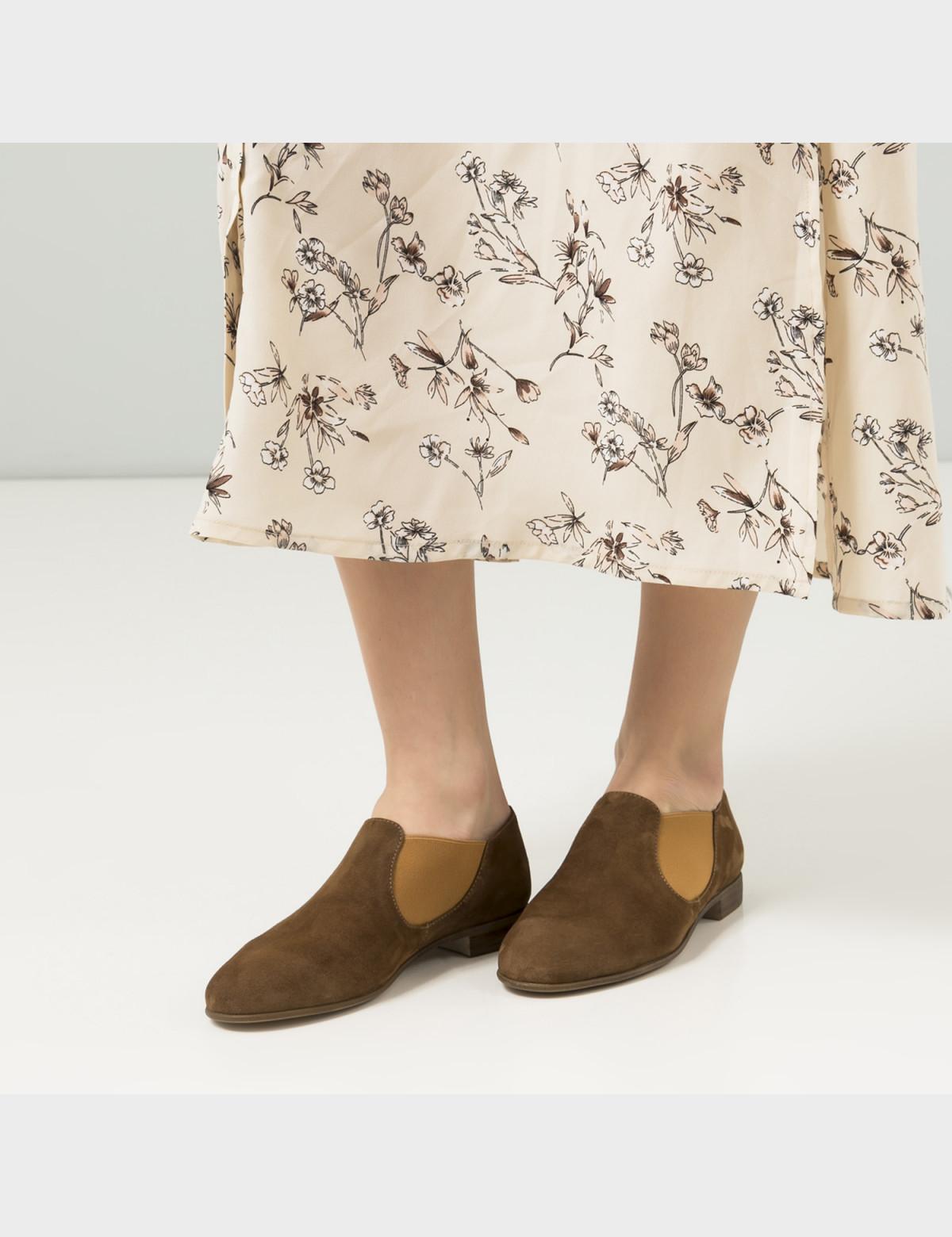 Туфли бежевые, натуральная замша5