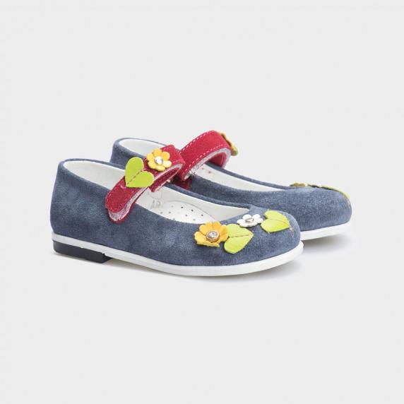 Туфли сиреневые. Натуральная замша