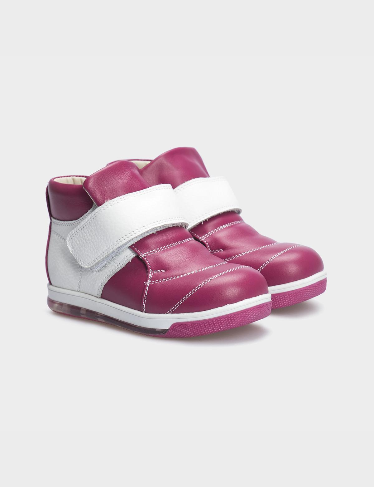 Ботинки рожеві, натуральна шкіра