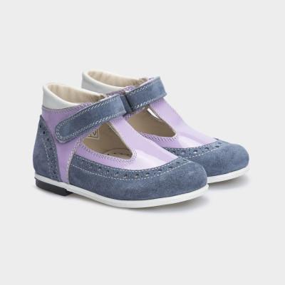 Туфли сиреневые. Натуральная кожа/замша