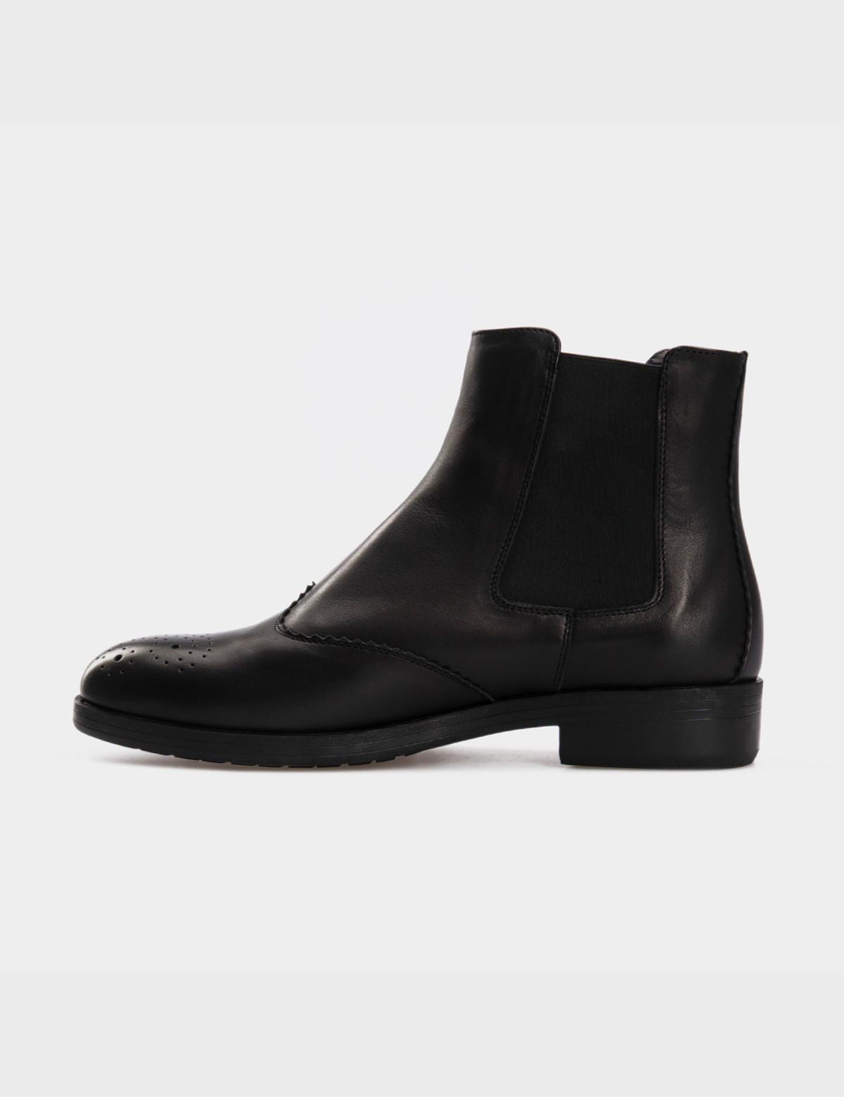 Ботинки черные, натуральная кожа. Байка2