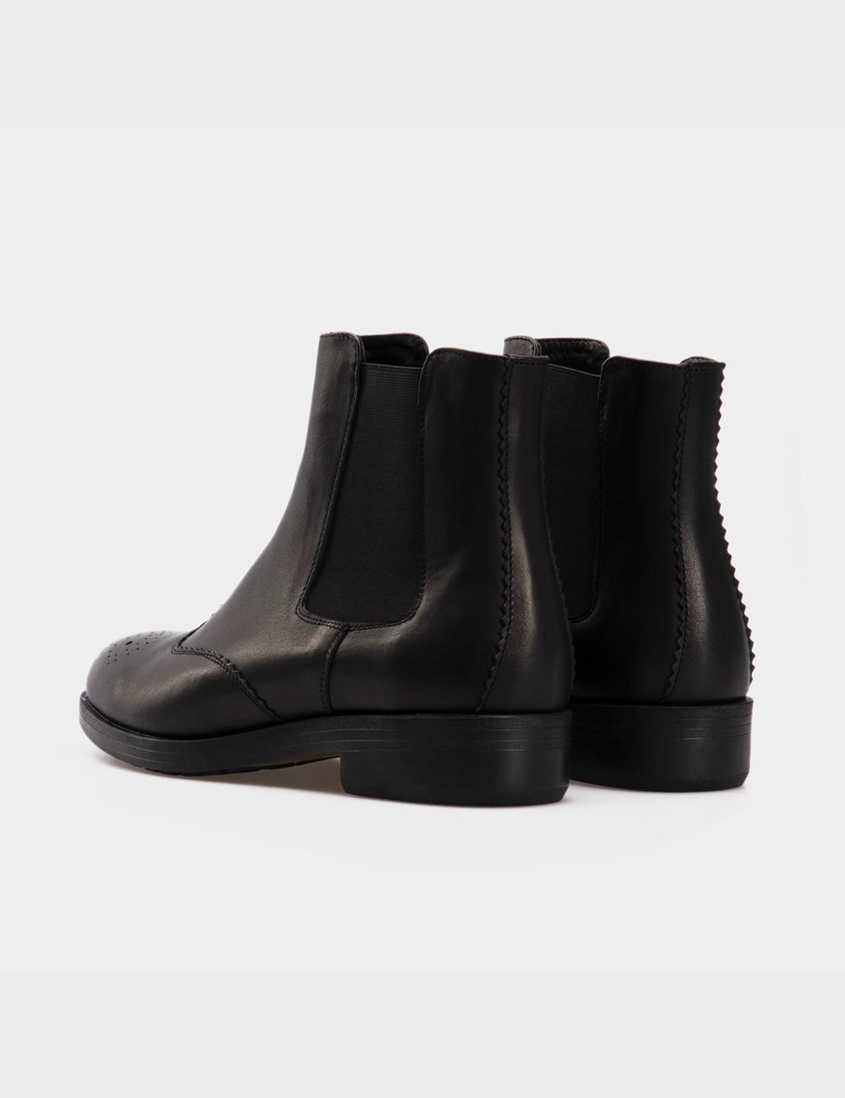 Ботинки черные, натуральная кожа. Байка3
