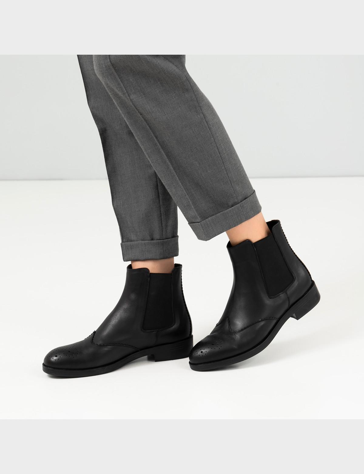 Ботинки черные, натуральная кожа. Байка5