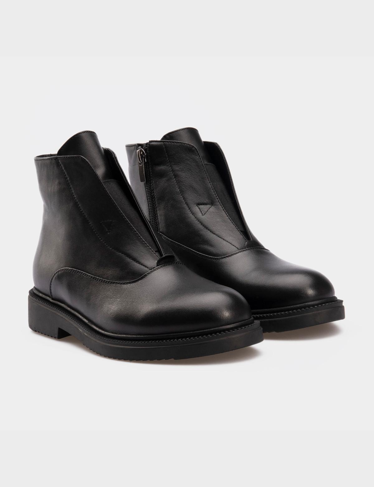 Ботинки черные, натуральная кожа. Байка 1